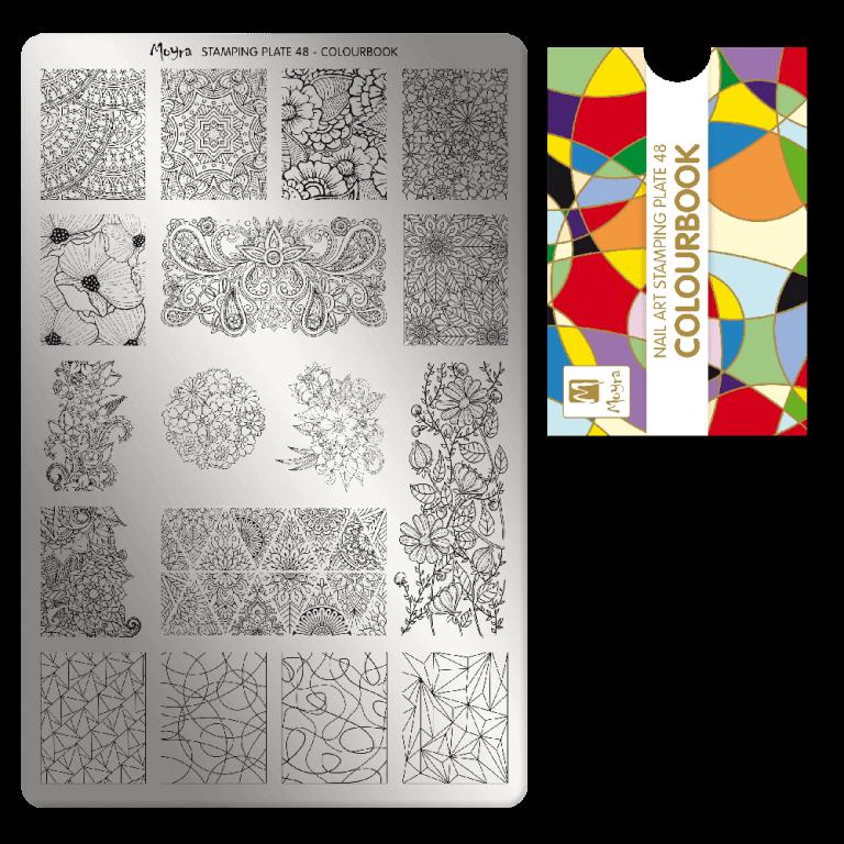 Moyra nagu štancēšanas plāksne 48 Krāsu grāmata