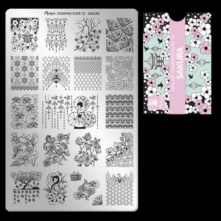 Moyra nagu štancēšanas plāksne 73 Sakura