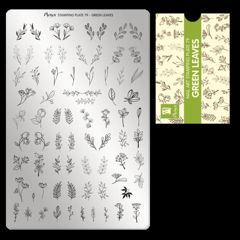 Moyra nagu štancēšanas plāksne 79 Zaļās lapas