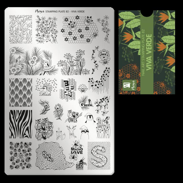 Moyra nagu štancēšanas plāksne 82 Viva verde