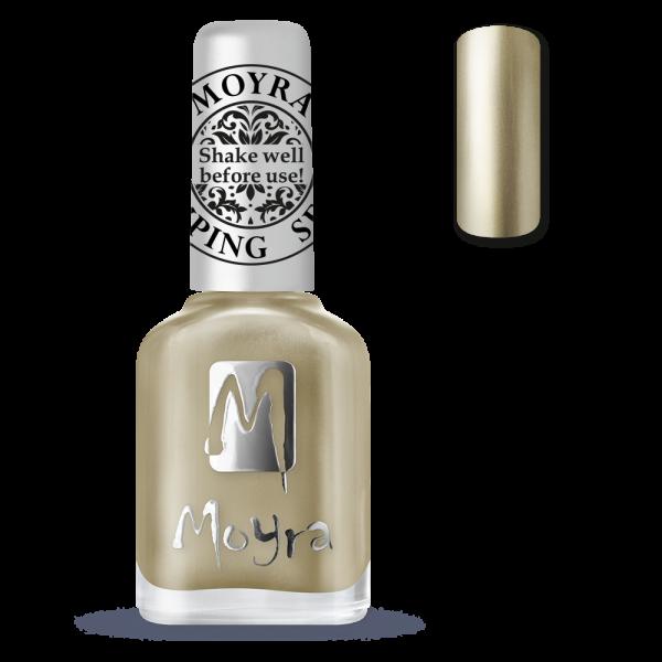 Moyra apzīmogojot laku SP 24 Chrome zelts