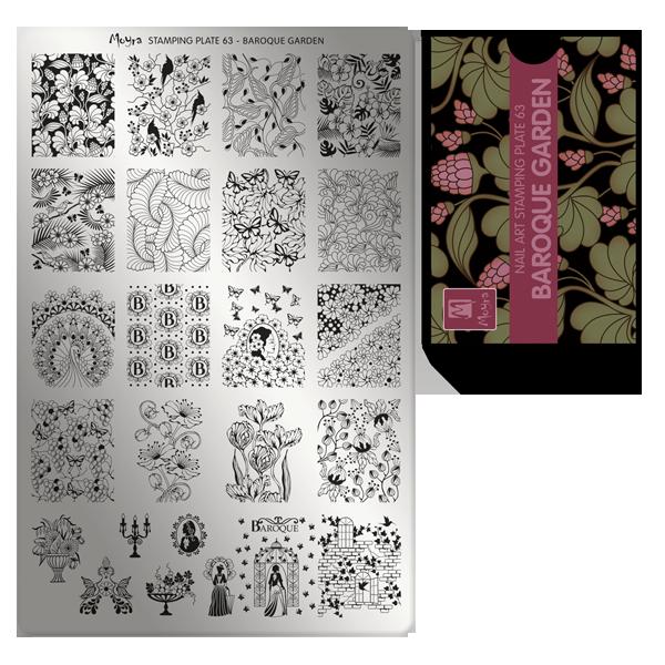 Moyra nagu štancēšanas plāksne 63 Baroka dārzs