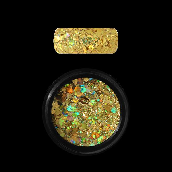 Moyra Holo glitter mix Nr. 07, tumši zelts