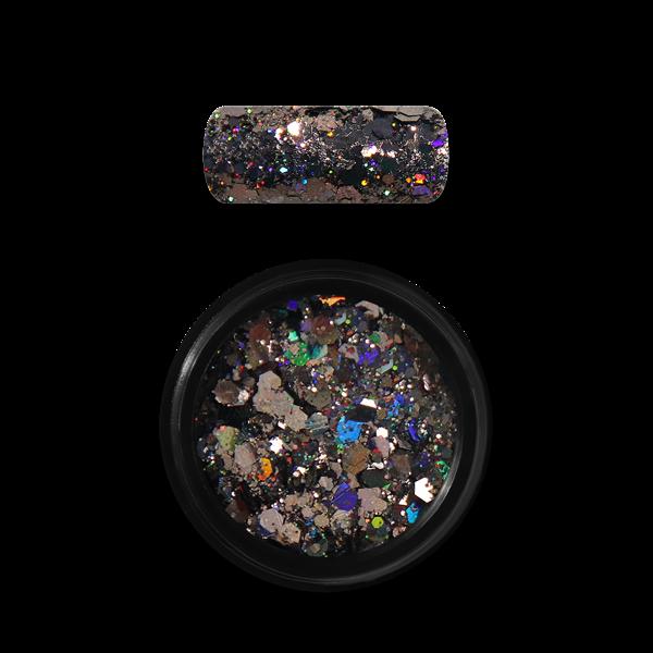 Moyra Holo glitter mix Nr. 10, melns