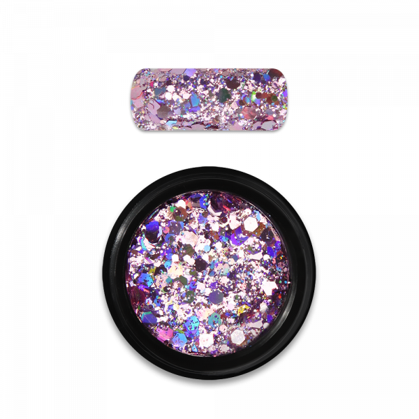 Moyra Holo glitter mix Nr. 03, rozā