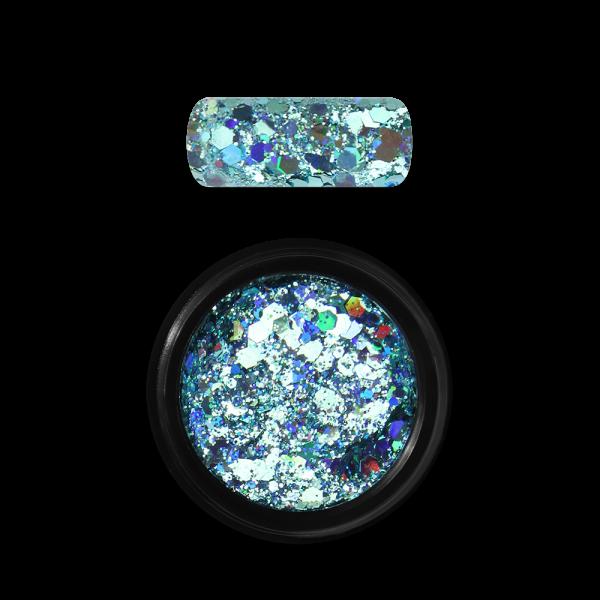 Moyra Holo glitter mix Nr. 04, tirkīzs