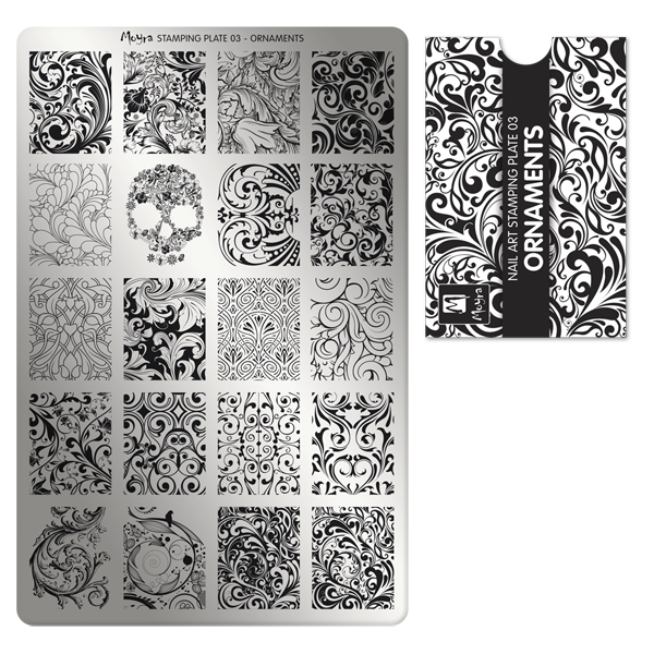 Moyra Štancēšanas plāksne 03 Ornaments