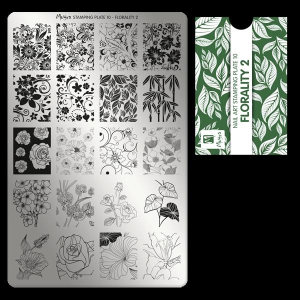 Moyra Štancēšanas plāksne 10 Florality 2