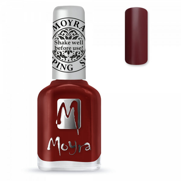 Moyra stamping varnish SP 03 Burgundy red