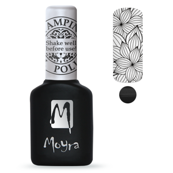 Moyra štancēšanas gel Polish Sgp 01 Black
