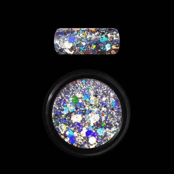 Moyra Holo glitter mix Nr. 01 sudrabs